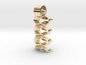 Virtual waves [pendant] in 14K Yellow Gold