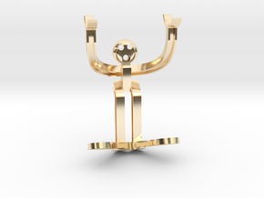 H-beam Man in 14k Gold Plated Brass