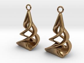 Twist earrings in Natural Brass