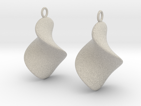 Chips earrings in Natural Sandstone