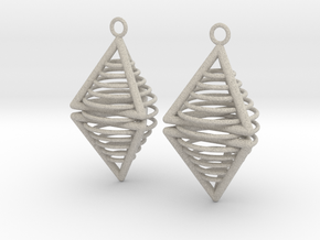Pyramid triangle earrings serie 3 type 8 in Natural Sandstone