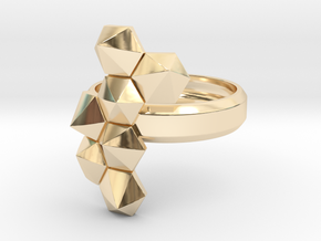 Hex Cluster Ring in 14k Gold Plated Brass