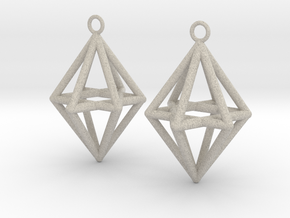 Pyramid triangle earrings type 14 in Natural Sandstone