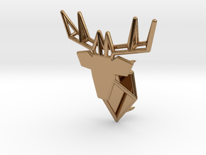 Deer Pin in Polished Brass