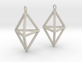 Pyramid triangle earrings type 3 in Natural Sandstone