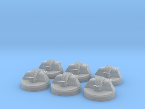 1/350 IJN 127mm Gun Aircraft Carriers set x6 in Smooth Fine Detail Plastic