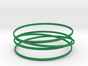 Multispire floating bracelet in Green Processed Versatile Plastic: Small