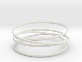 Multispire floating bracelet in White Premium Versatile Plastic: Small