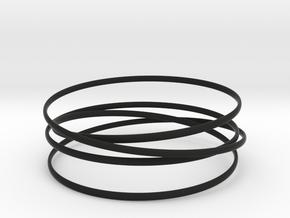 Multispire floating bracelet in Black Premium Versatile Plastic: Small