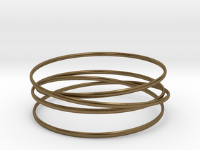 Multispire floating bracelet in Natural Bronze (Interlocking Parts): Small