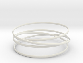 Multispire floating bracelet in White Natural Versatile Plastic: Medium