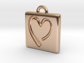 heartPendant in 14k Rose Gold