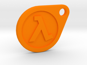 Half-Life Lambda Keychain 2.0 in Orange Processed Versatile Plastic