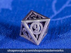 Deathly Hallows d8 in Stainless Steel