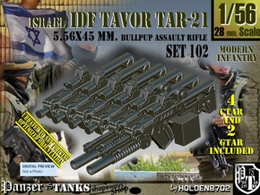 1/56 Bullpup Ctar-Gtar Tavor SET102 in Smoothest Fine Detail Plastic
