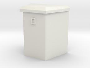 "1/64 21"" trailer tongue box in White Natural Versatile Plastic"