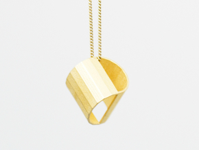 Half Moon_Pendant in Polished Gold Steel