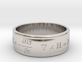 James Clerk Maxwell Ring in Platinum: 5 / 49