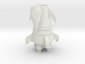 Flying Rocket Ship (Smallest Version) in White Natural Versatile Plastic
