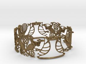 Art NOUVEAU Bracelet - Art Deco - Jugendstil in Interlocking Raw Bronze