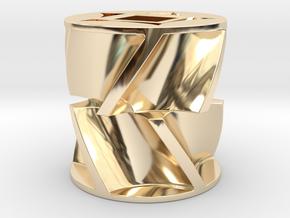 Fertilizer metering sprocket in 14k Gold Plated Brass