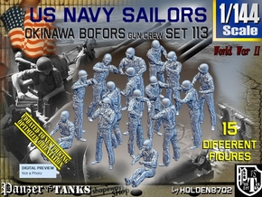 1/144 USN OKI Bofors Set113 in Smooth Fine Detail Plastic
