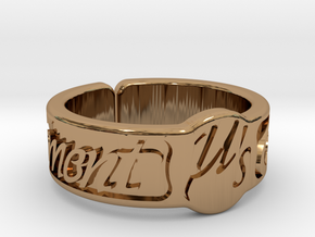Moment Ring - Love Live in Polished Brass