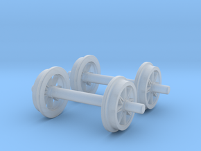 0m wheels - open spokes - Normal in Smooth Fine Detail Plastic: 1:45