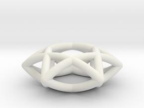 Star Of David Pendant in White Natural Versatile Plastic