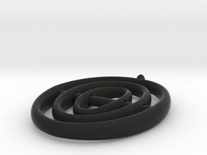 Saturn Rings Pandant in Black Natural Versatile Plastic