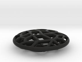 Cell Pendant Mini in Black Natural Versatile Plastic