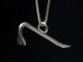 Crowbar pendant in Frosted Ultra Detail