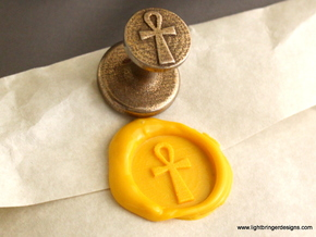 Ankh Wax Seal in Stainless Steel