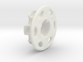 Vertical Chain Control Gear 002B  in White Natural Versatile Plastic