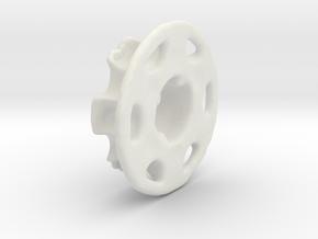 Vertical Chain Control Gear 002B  in White Natural Versatile Plastic