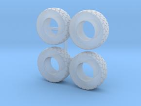 1/64 Wheel loader tires in Smooth Fine Detail Plastic
