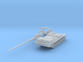 Miniature 2S7 Pion Tank - Russian in Smooth Fine Detail Plastic: 1:144