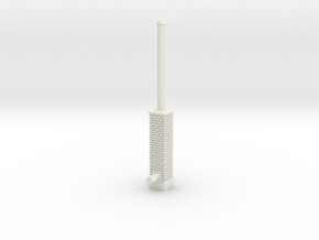 Building Side Brick Exhaust Stack N Scale in White Natural Versatile Plastic