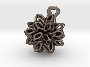 P-Spring  flower. in Polished Bronzed Silver Steel