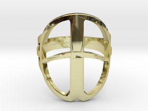 XP Deus Ring ringsize 22mm in 18k Gold Plated Brass