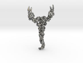 Dancing Scorpion in Interlocking Polished Silver: Small