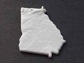 Georgia Christmas Ornament in White Natural Versatile Plastic