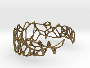 voronoi doubleshell cuff  in Polished Bronze