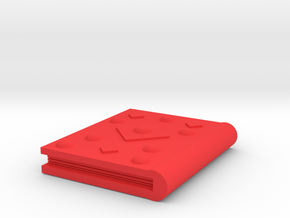 Book Accessory  in Red Processed Versatile Plastic