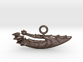 Dota2UnderlordBladePendant in Polished Bronze Steel