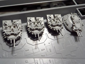 STAR DESTROYER ZVESDA DEVASTATOR TURRETS in Smooth Fine Detail Plastic