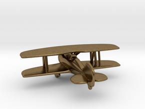 Biplane in Natural Bronze