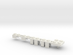 Building Block Interface for Action Figures: Set B in White Natural Versatile Plastic