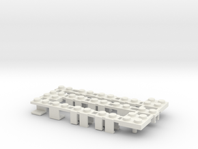 Building Block Interface for Action Figures ABC in White Natural Versatile Plastic