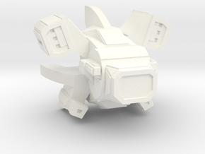 Warbot Drone Gunship in White Processed Versatile Plastic